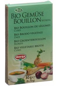 MORGA Gemüse Bouillon Würfel Bio 8 Stk