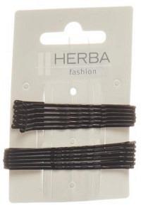 HERBA Klemme 6+6.5cm schwarz 12 Stk