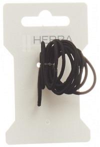 HERBA Haarbinder 3cm schwarz 12 Stk