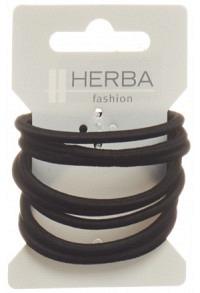 HERBA Haarbinder 5cm schwarz 8 Stk