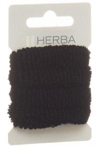 HERBA Haarbinder 4cm frottée schwarz 4 Stk