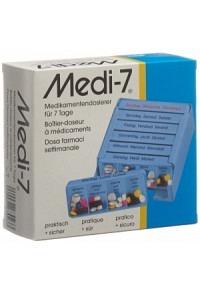 MEDI-7 Medikamentendosierer 7 Tage D/F/I blau