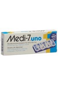 MEDI-7 Medikamentendosierer uno 7 Tage blau