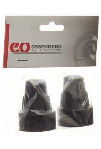 OSSENBERG Krückenkapsel 16mm schwarz 1 Paar