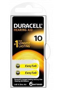 DURACELL Batt EasyTab 10 Zinc Air D6 1.4V 6 Stk
