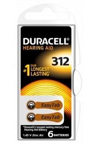 DURACELL Batt EasyTab 312 Zinc Air D6 1.4V 6 Stk