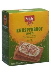 SCHÄR Knusperbrot dunkel glutenfrei 125 g