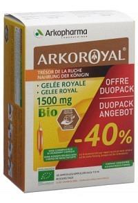 ARKOROYAL Gelée Royale 1500 mg Bio Duo 2 x 20 Stk