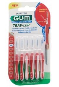 GUM SUNSTAR Trav-Ler 0.8mm cylindric rot 6 Stk
