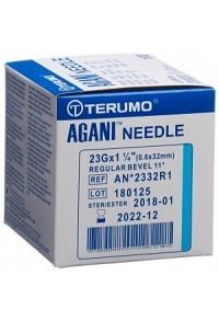 TERUMO Agani Einmalka 23G 0.6x32mm blau 100 Stk