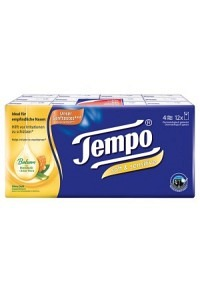 TEMPO Taschentücher soft&sensitive 12 x 9 Stk