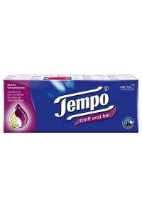 TEMPO Taschentücher Sanft&Frei 10 x 9 Stk