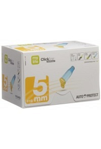 MYLIFE CLICKFINE AutoProtect Pen-Nadel 5mm 100 Stk
