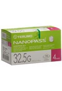 TERUMO Pen Nadel NANOPASS 32.5G 0.22x4mm 100 Stk