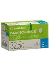 TERUMO Pen Nadel NANOPASS 32.5G 0.22x8mm 100 Stk