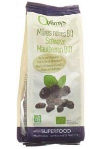 OPTIMYS schwarze Maulbeeren Bio 180 g
