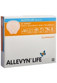 ALLEVYN LIFE SACRUM Sil-Schaumv 21.6x23cm 10 Stk