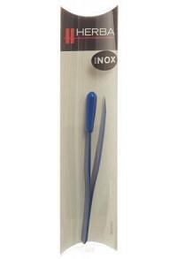 HERBA Pinzette schräg Inox blau