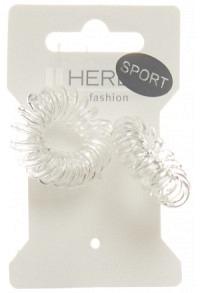 HERBA Sport Haarbinder Ø3.8cm transparent 2 Stk