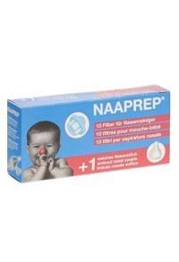 NAAPREP Filter Nasenreiniger 10 Stk + 1 Nasenstk