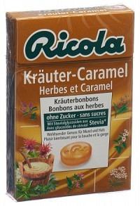 RICOLA Kräuter-Caramel o Zucker m Stevia Box 50 g