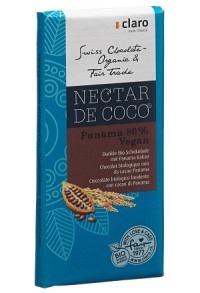 CLARO Nectar de Coco Panama 80% Tafel Bio 100 g
