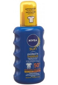 NIVEA Sun Protect&Moist Sonnenspray LSF50+ 200 ml