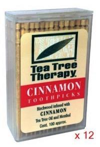 TEA TREE THERAPY Display Zahnstocher Zimt 12 Stk