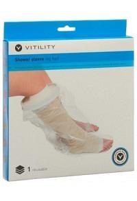 VITILITY Duschüberzug halbes Bein