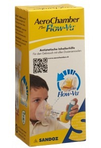 AEROCHAMBER PLUS Flow-Vu mit Maske (1-5 J) gelb