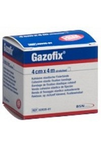 GAZOFIX kohä Fixierbinde 4cmx4m hautf latexfrei