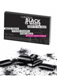 CURAPROX Black is White Kaugummi Blist 12 Stk