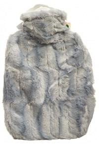 FROSCH Wärmflasche PVC 1.8l Hochflorbezug grau