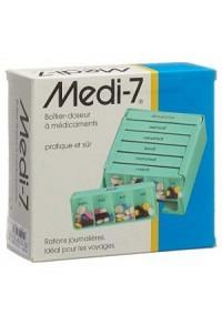 SAHAG Medi-7 Medidosierer 7 Tage 4 Fächer türkis F