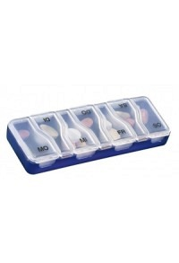 SAHAG Medi-7 Uno Medidosierer 7 Tage 1 Fach blau D
