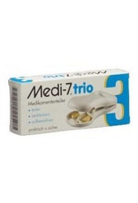 SAHAG Medi-7 Trio Tablettenteiler weiss
