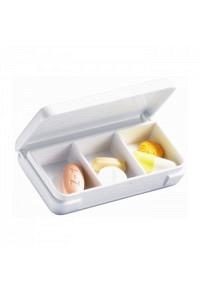 SAHAG Tablettendose 6.5x3.5cm weiss 3-teilig