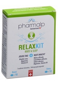 PHARMALP RELAXKIT Boost & Sleep Tabl Blist 20 Stk