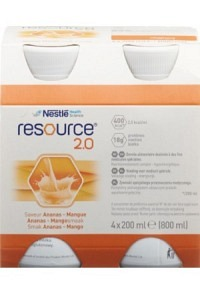 RESOURCE 2.0 Ananas Mango 4 x 200 ml