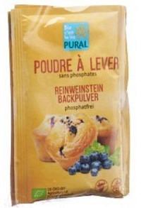 PURAL Backpulver Weinstein phosphatfr Bio 3 x 21 g