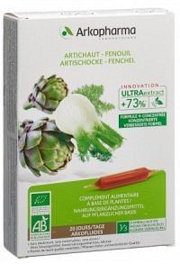 ARKOFLUIDE Artischocke-Fenchel Bio 20 Amp 10 ml