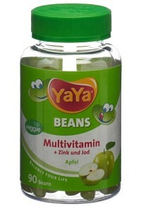 YAYABEANS Multivitamin Apfel ohne Gelatine 90 Stk