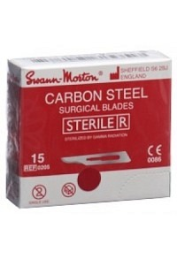 SWANN-MORTON Skalpellkling Fig.15 steril 100 Stk