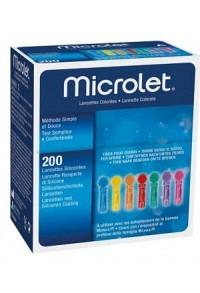 MICROLET (PI-APS) Lanzetten farbig 200 Stk