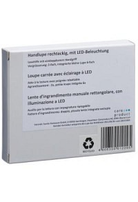 SUNDO Handlupe mit LED-Beleuchtung rechteckig