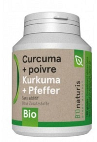 BIONATURIS Kurkuma+Pfeffer Kaps 260 mg Bio 180 Stk