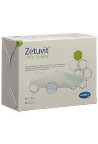 ZETUVIT Plus Silicone 8x8cm 10 Stk