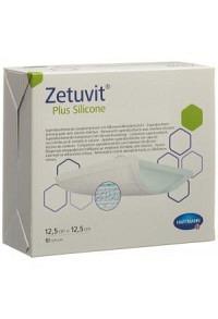 ZETUVIT Plus Silicone 12.5x12.5cm 10 Stk