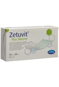 ZETUVIT Plus Silicone 10x20cm 10 Stk