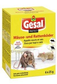 GESAL PROTECT Mäuse und Rattenköder 6 x 25 g (Achtung! Versand nur INNERHALB der SCHWEIZ möglich!)